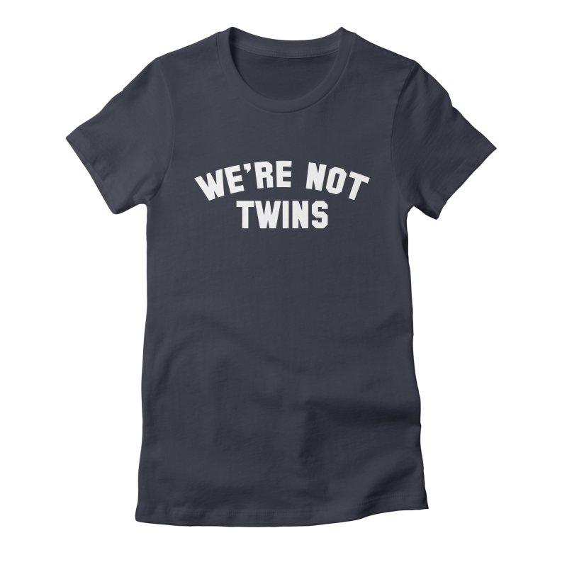 Not Twins (dark) Women's Fitted T-Shirt by Melissa JR