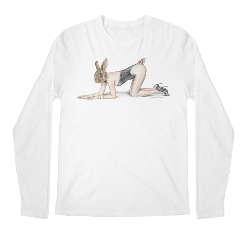 Gentlemen's Hare Men's Regular Longsleeve T-Shirt by MelJo JoJo's Artist Shop