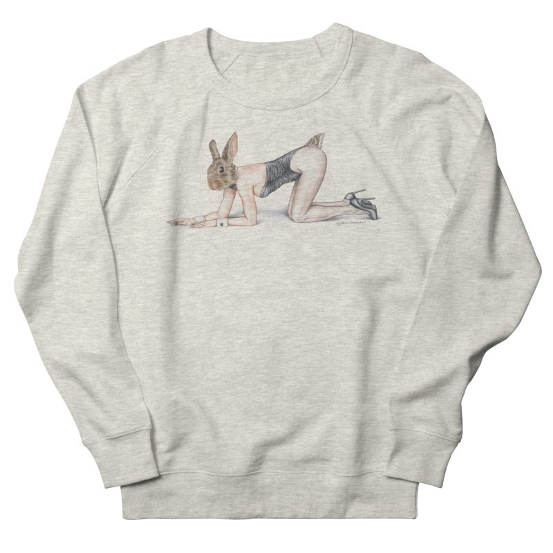 Gentlemen's Hare Women's French Terry Sweatshirt by MelJo JoJo's Artist Shop