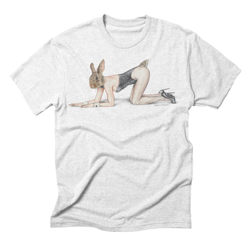 Gentlemen's Hare Men's Triblend T-shirt by MelJo JoJo's Artist Shop