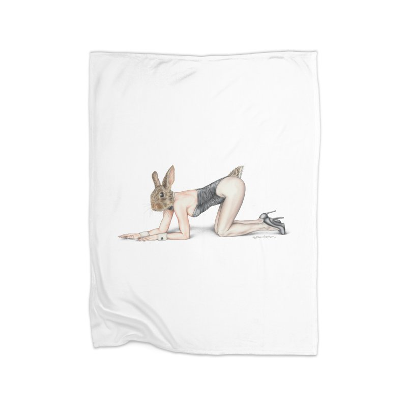 Gentlemen's Hare Home Blanket by MelJo JoJo's Artist Shop