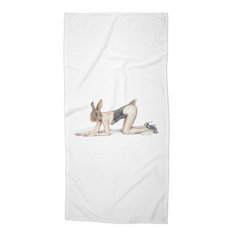 Gentlemen's Hare Accessories Beach Towel by MelJo JoJo's Artist Shop