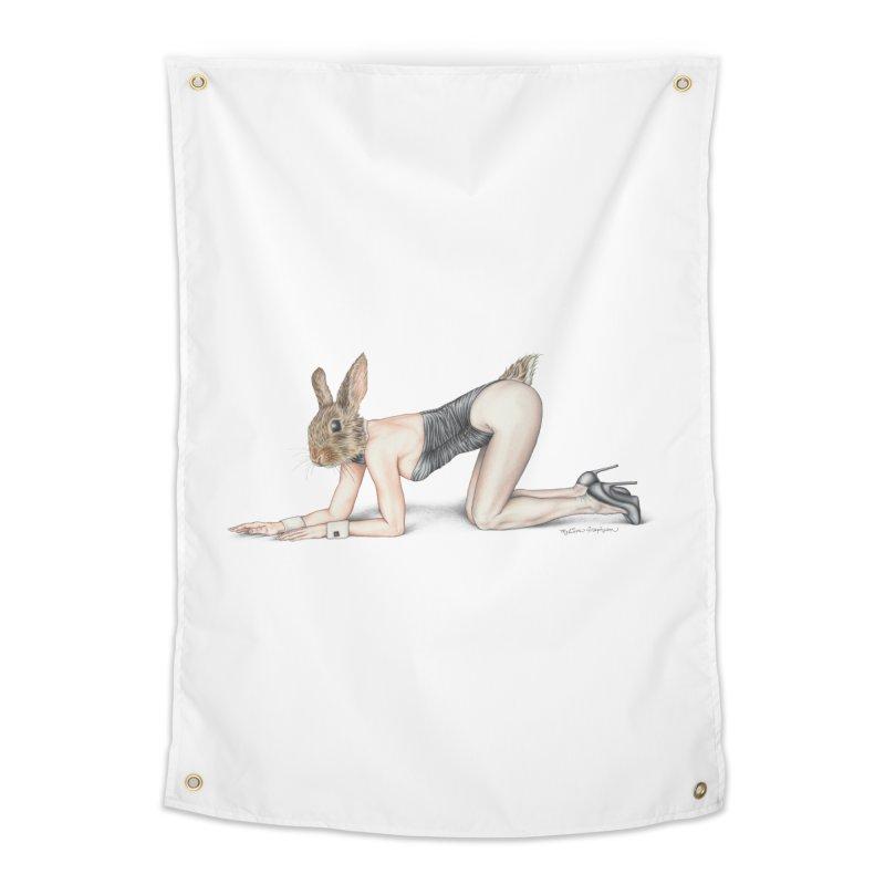 Gentlemen's Hare Home Tapestry by MelJo JoJo's Artist Shop