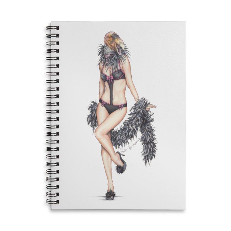 California Condor Gurl - Home & Accessories Accessories Lined Spiral Notebook by MelJo JoJo's Artist Shop