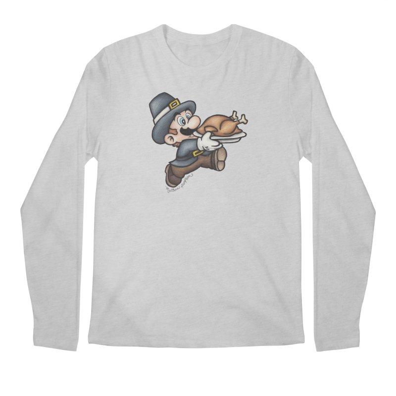Super Pilgrim Men's Longsleeve T-Shirt by MelJo JoJo's Artist Shop