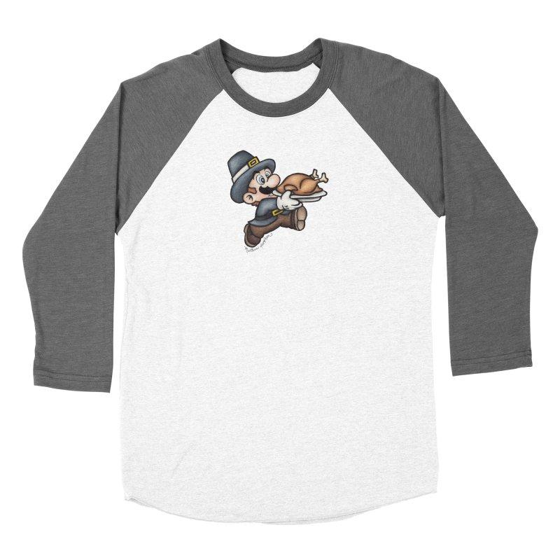 Super Pilgrim Women's Baseball Triblend Longsleeve T-Shirt by MelJo JoJo's Artist Shop