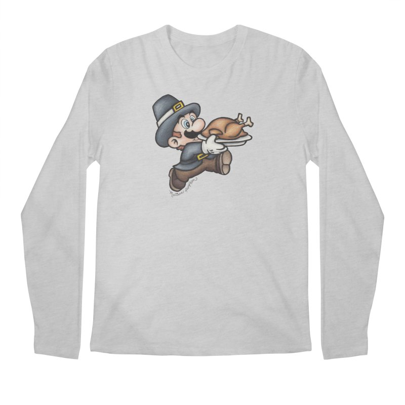 Super Pilgrim Men's Longsleeve T-Shirt by MelJo JoJo's Artist Shop
