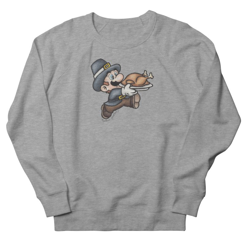 Super Pilgrim Women's French Terry Sweatshirt by MelJo JoJo's Artist Shop