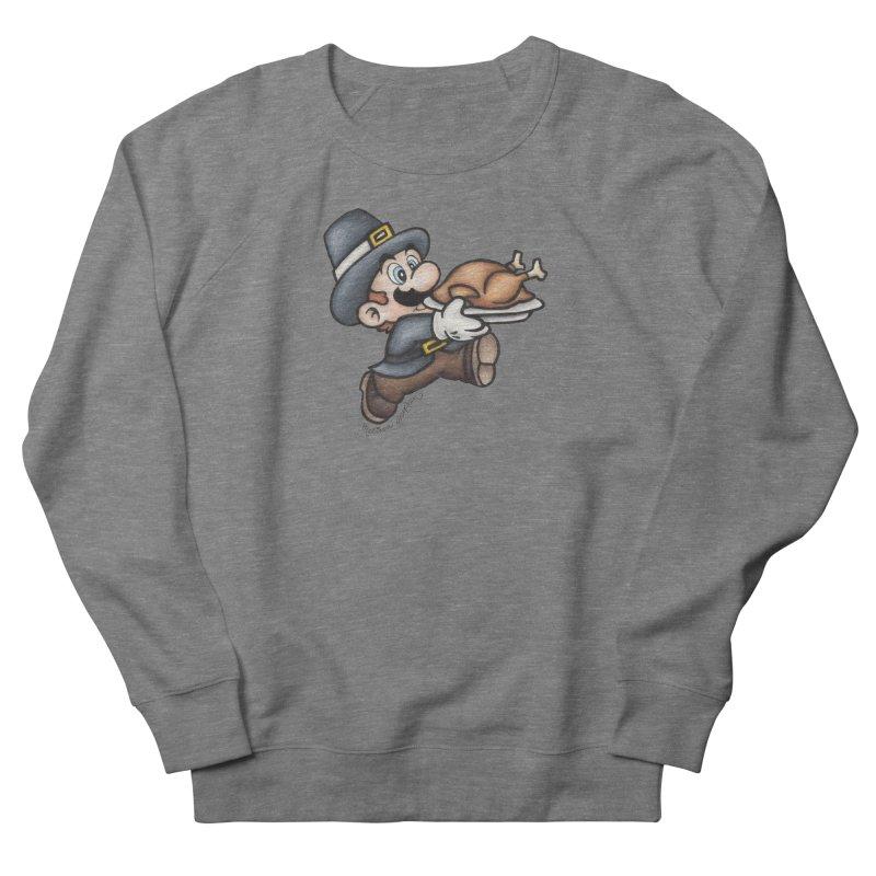 Super Pilgrim Men's French Terry Sweatshirt by MelJo JoJo's Artist Shop