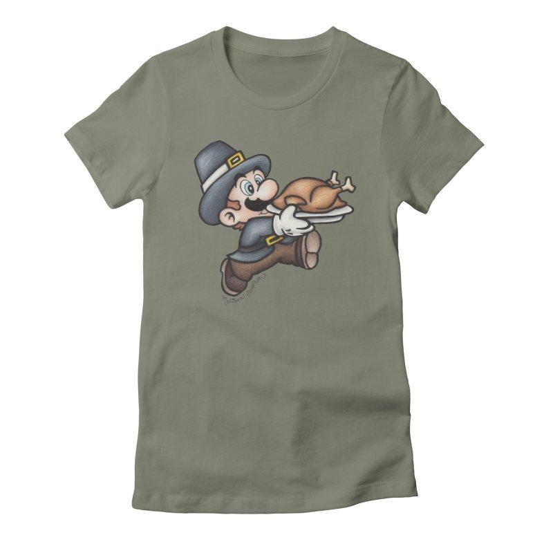 Super Pilgrim Women's T-Shirt by MelJo JoJo's Artist Shop