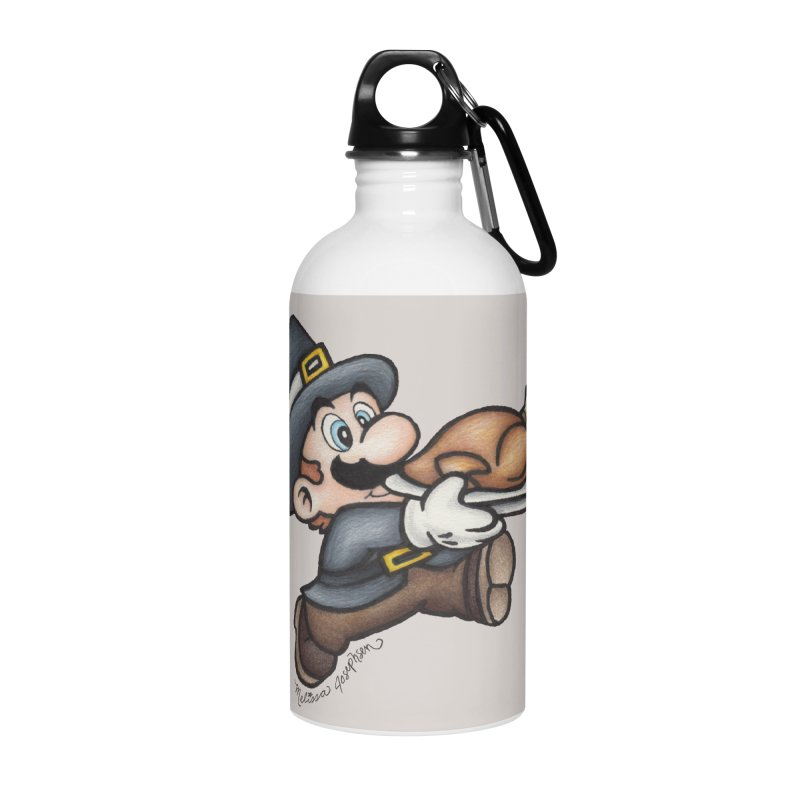 Super Pilgrim Accessories Water Bottle by MelJo JoJo's Artist Shop