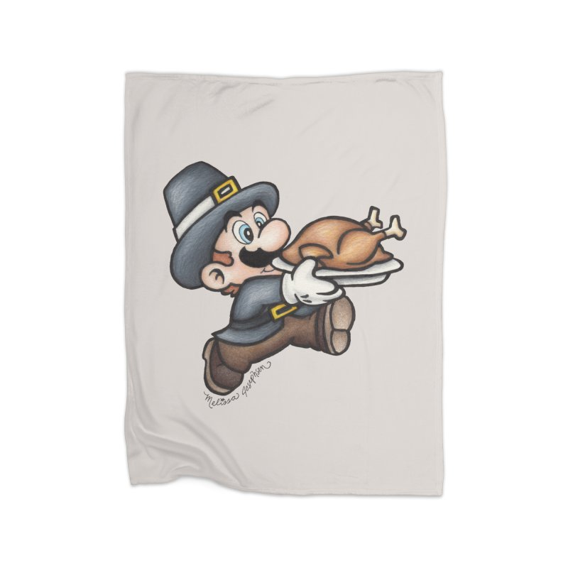 Super Pilgrim Home Fleece Blanket Blanket by MelJo JoJo's Artist Shop
