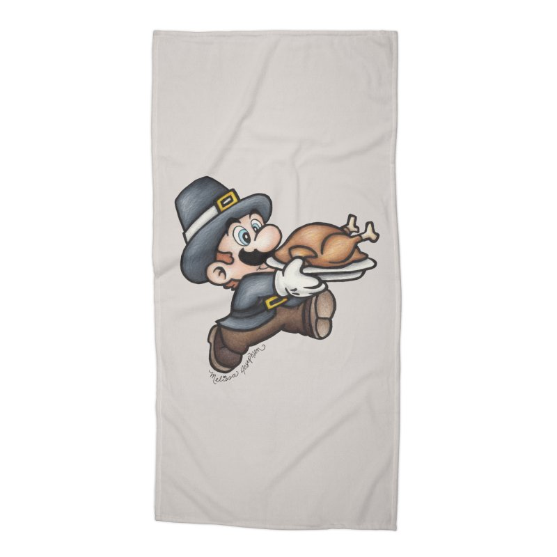 Super Pilgrim Accessories Beach Towel by MelJo JoJo's Artist Shop