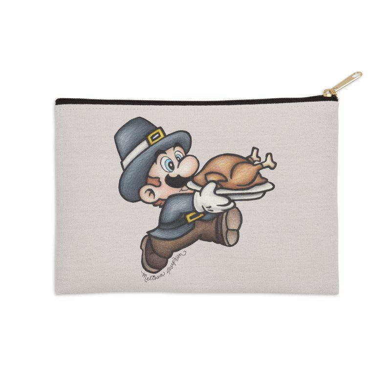 Super Pilgrim Accessories Zip Pouch by MelJo JoJo's Artist Shop