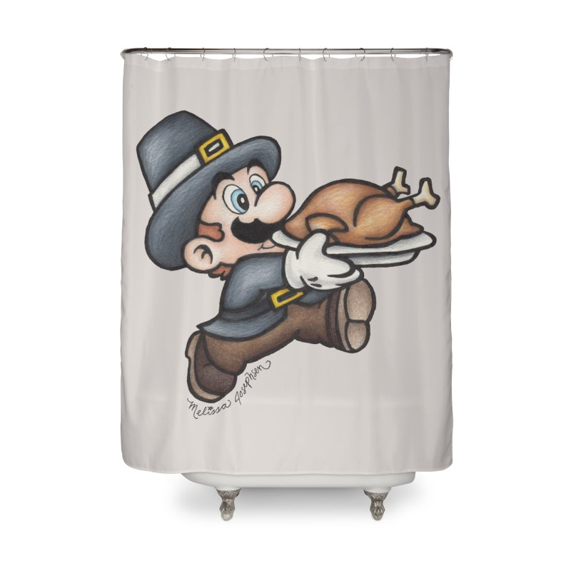 Super Pilgrim Home Shower Curtain by MelJo JoJo's Artist Shop
