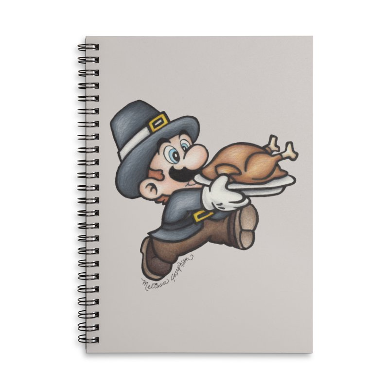 Super Pilgrim Accessories Lined Spiral Notebook by MelJo JoJo's Artist Shop