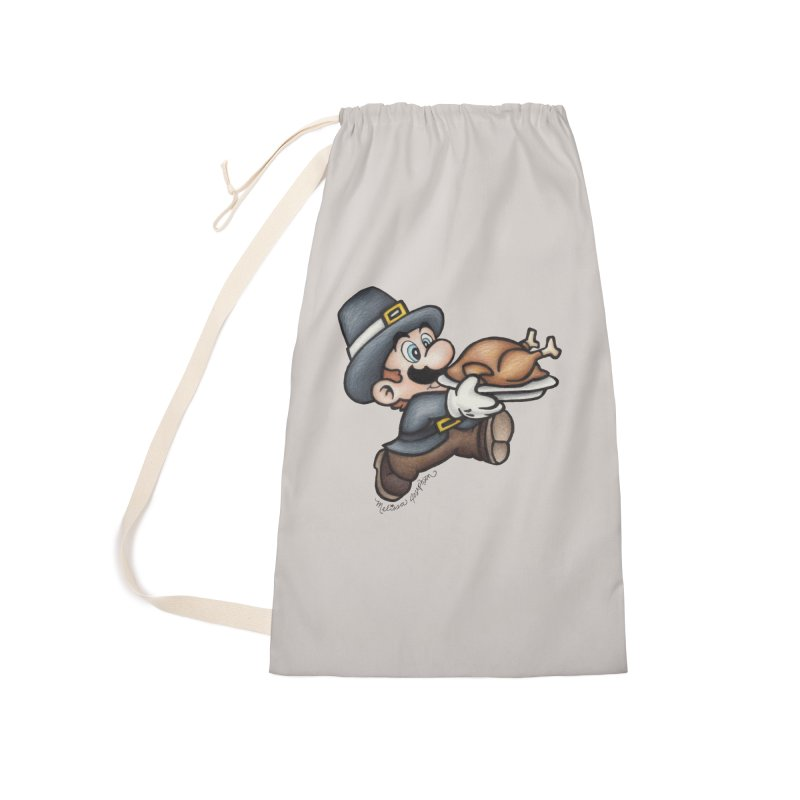 Super Pilgrim Accessories Laundry Bag Bag by MelJo JoJo's Artist Shop
