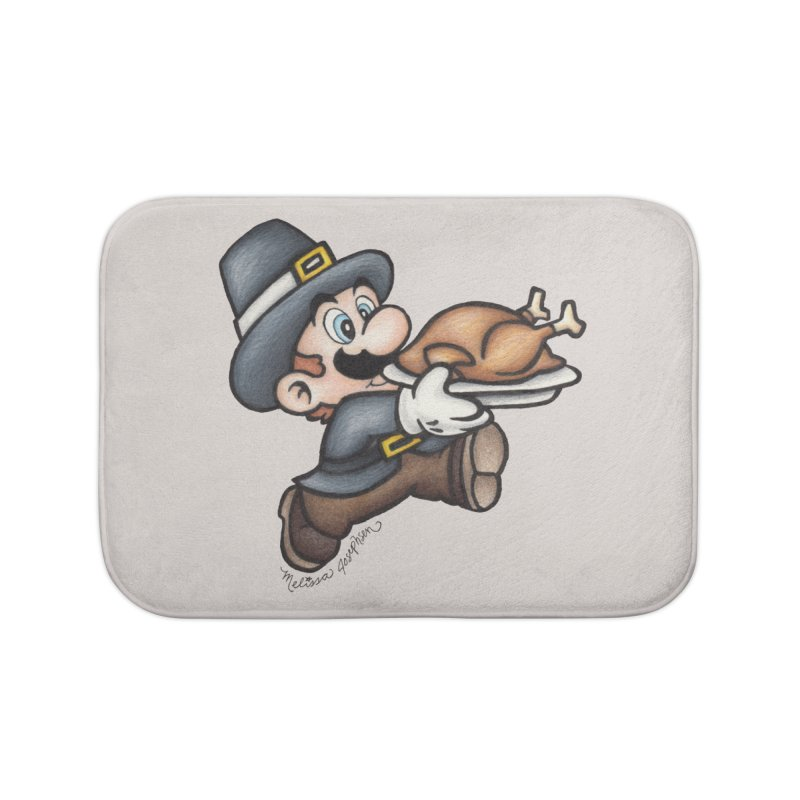 Super Pilgrim Home Bath Mat by MelJo JoJo's Artist Shop