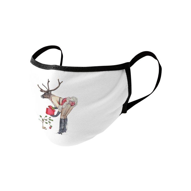 Santa's Secret Helper Accessories Face Mask by MelJo JoJo's Artist Shop