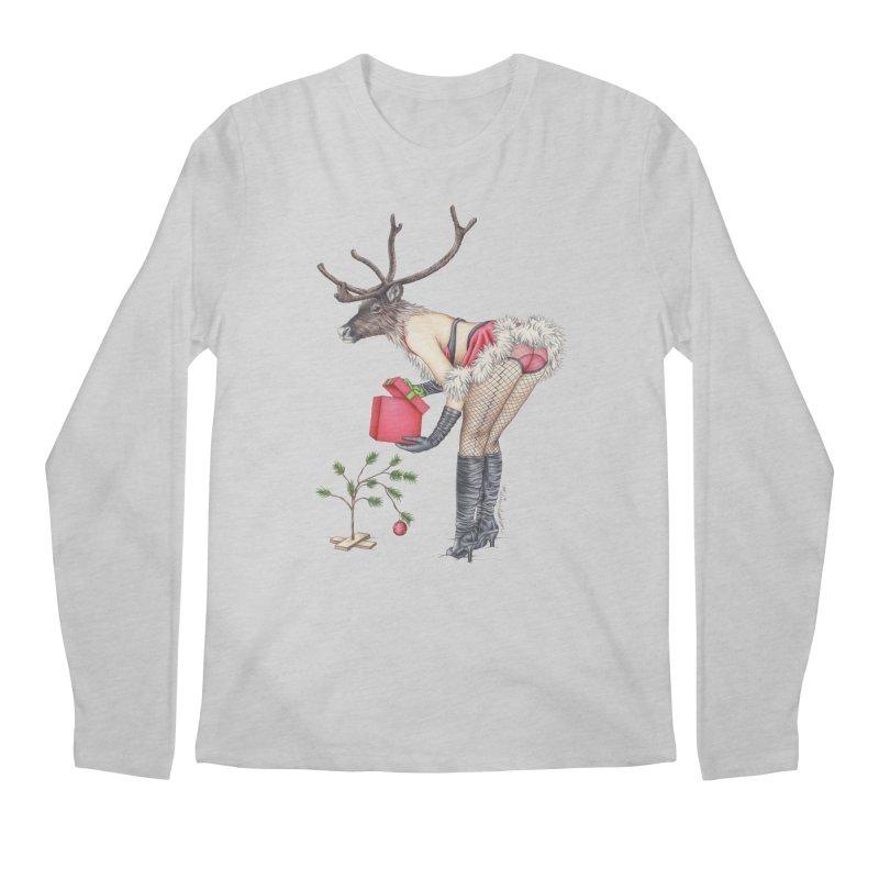 Santa's Secret Helper Men's Longsleeve T-Shirt by MelJo JoJo's Artist Shop