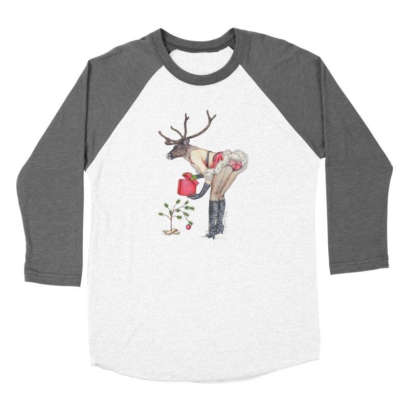 Santa's Secret Helper Men's Baseball Triblend Longsleeve T-Shirt by MelJo JoJo's Artist Shop