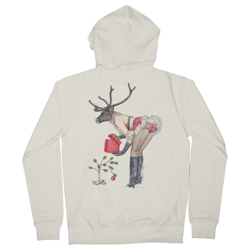 Santa's Secret Helper Men's French Terry Zip-Up Hoody by MelJo JoJo's Artist Shop