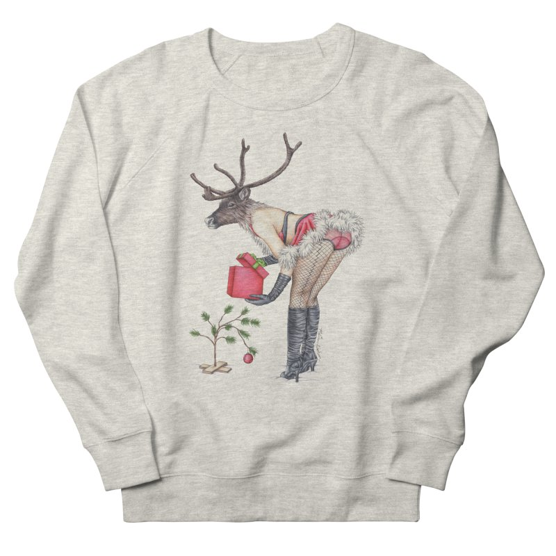 Santa's Secret Helper Women's French Terry Sweatshirt by MelJo JoJo's Artist Shop
