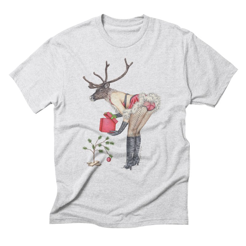 Santa's Secret Helper Men's Triblend T-Shirt by MelJo JoJo's Artist Shop