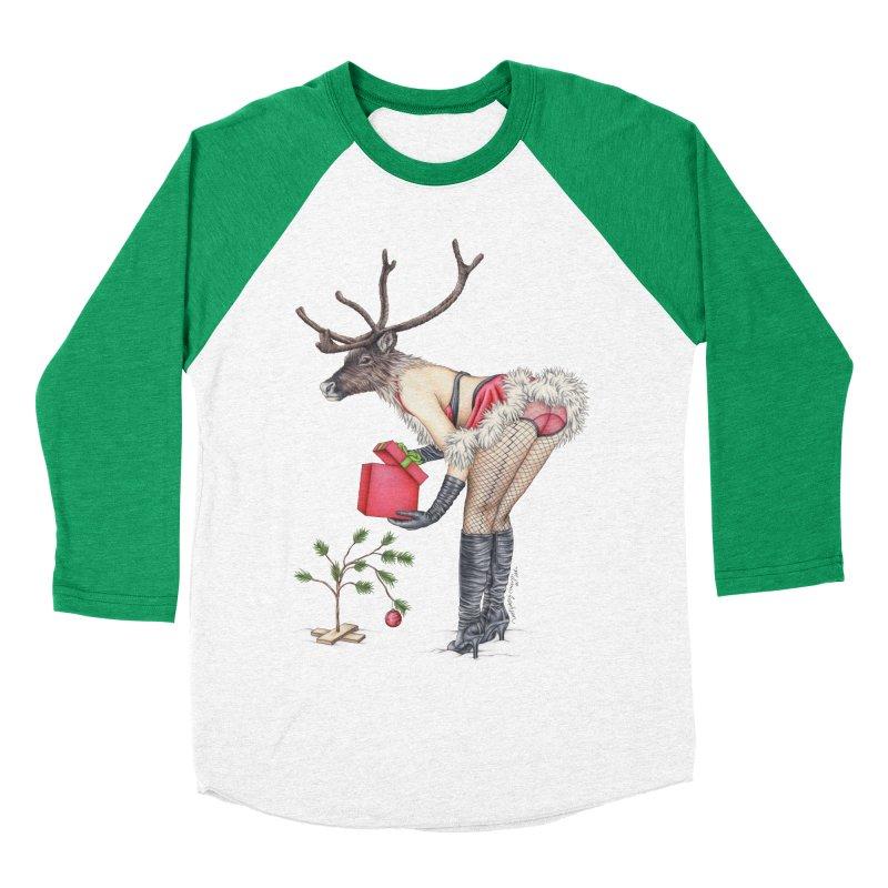 Santa's Secret Helper Women's Baseball Triblend Longsleeve T-Shirt by MelJo JoJo's Artist Shop