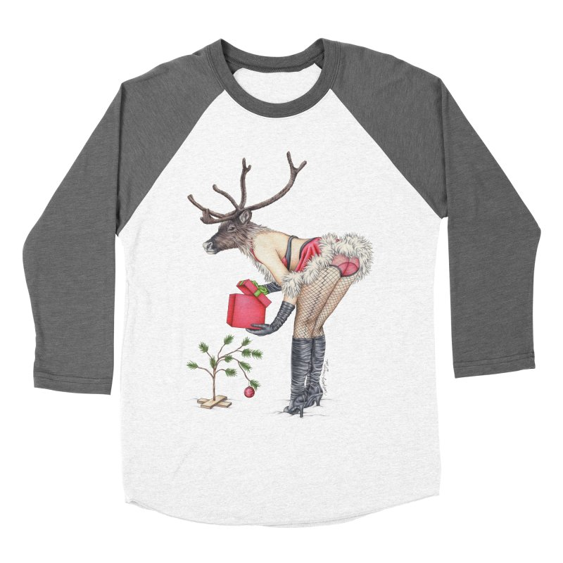 Santa's Secret Helper Men's Baseball Triblend Longsleeve T-Shirt by MelJo JoJo's Artist Shop