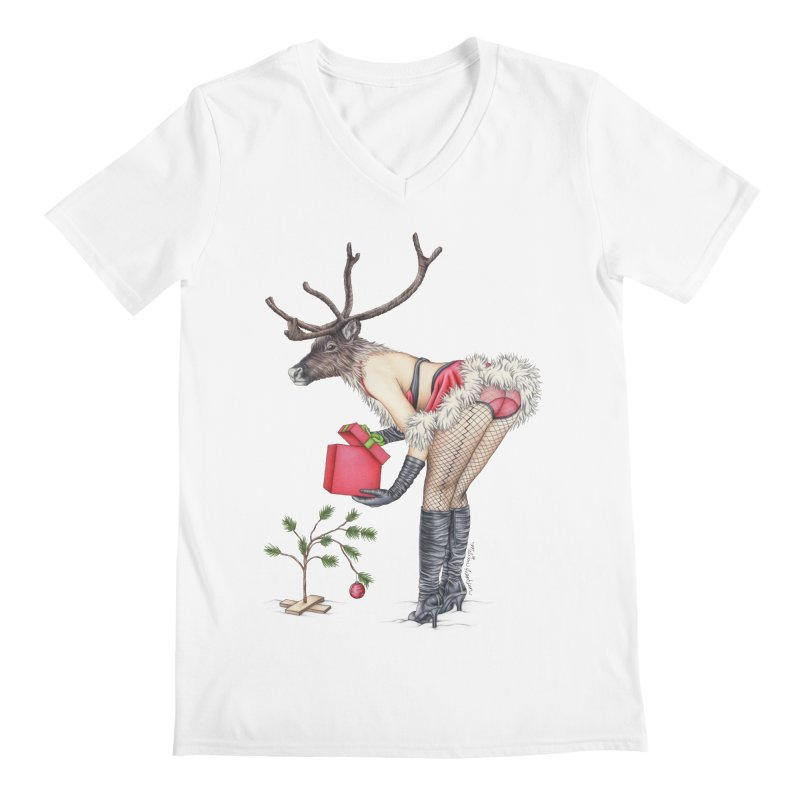 Santa's Secret Helper Men's V-Neck by MelJo JoJo's Artist Shop