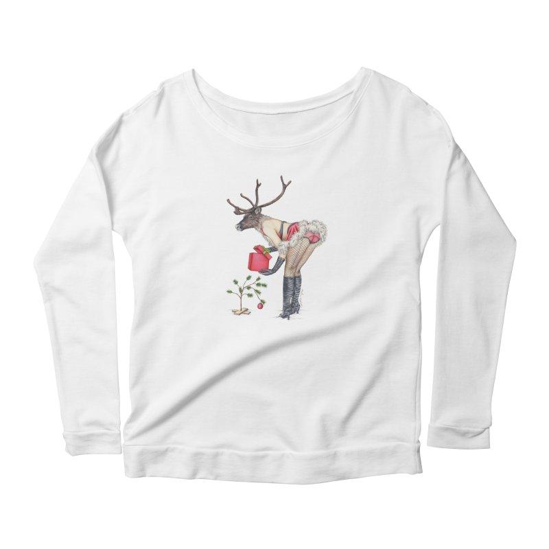Santa's Secret Helper Women's Longsleeve T-Shirt by MelJo JoJo's Artist Shop