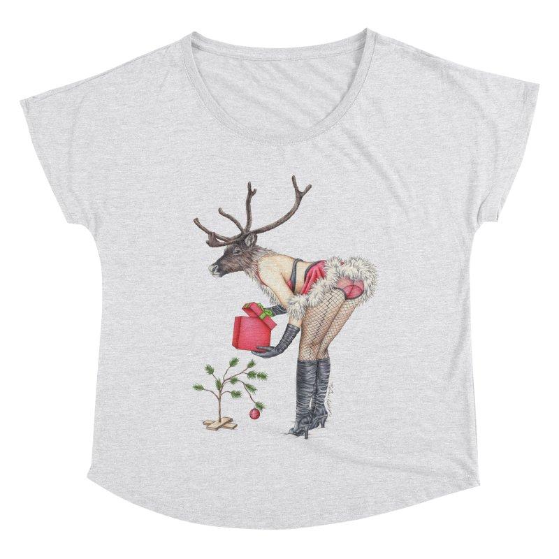 Santa's Secret Helper Women's Dolman Scoop Neck by MelJo JoJo's Artist Shop