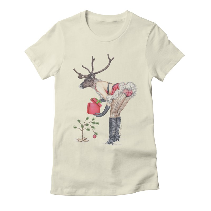 Santa's Secret Helper Women's Fitted T-Shirt by MelJo JoJo's Artist Shop