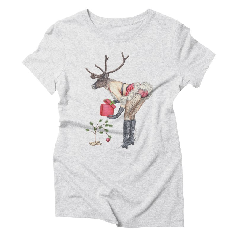 Santa's Secret Helper Women's Triblend T-Shirt by MelJo JoJo's Artist Shop