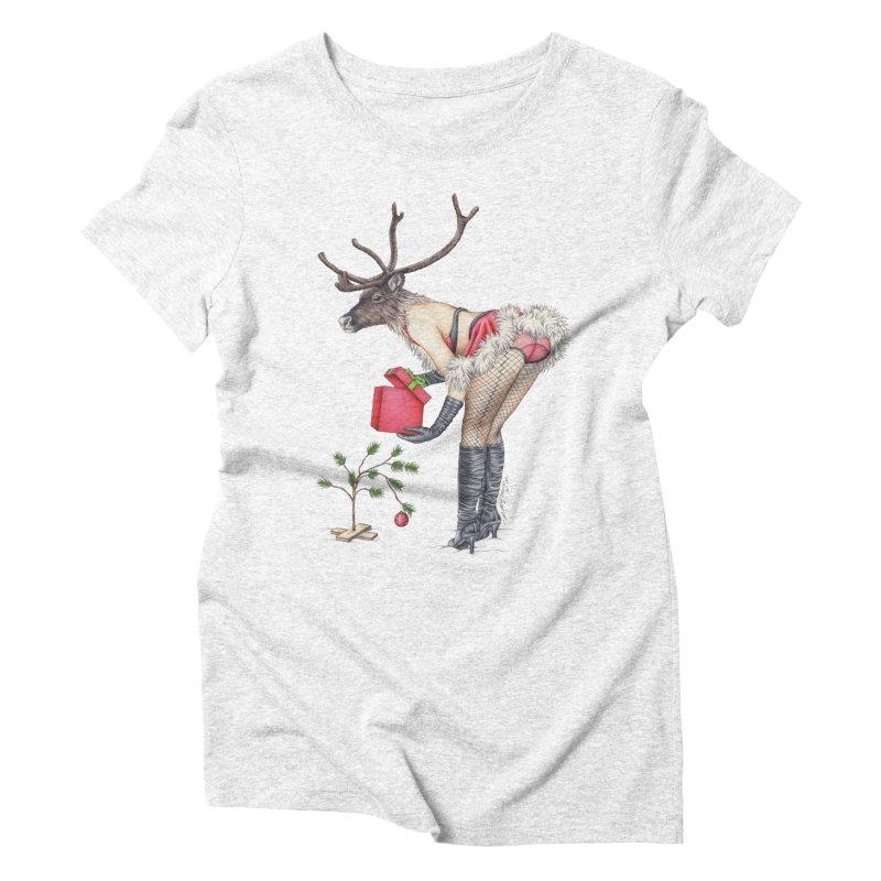 Santa's Secret Helper Women's Triblend T-shirt by MelJo JoJo's Artist Shop