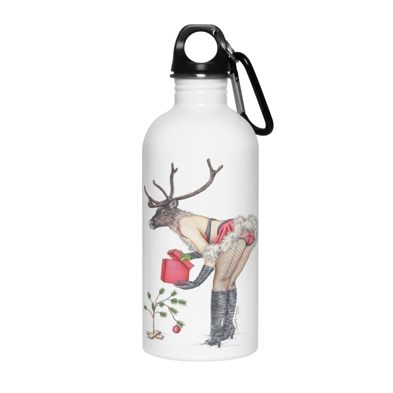 Santa's Secret Helper Accessories Water Bottle by MelJo JoJo's Artist Shop