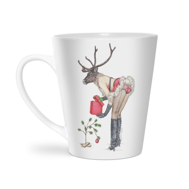 Santa's Secret Helper Accessories Latte Mug by MelJo JoJo's Artist Shop