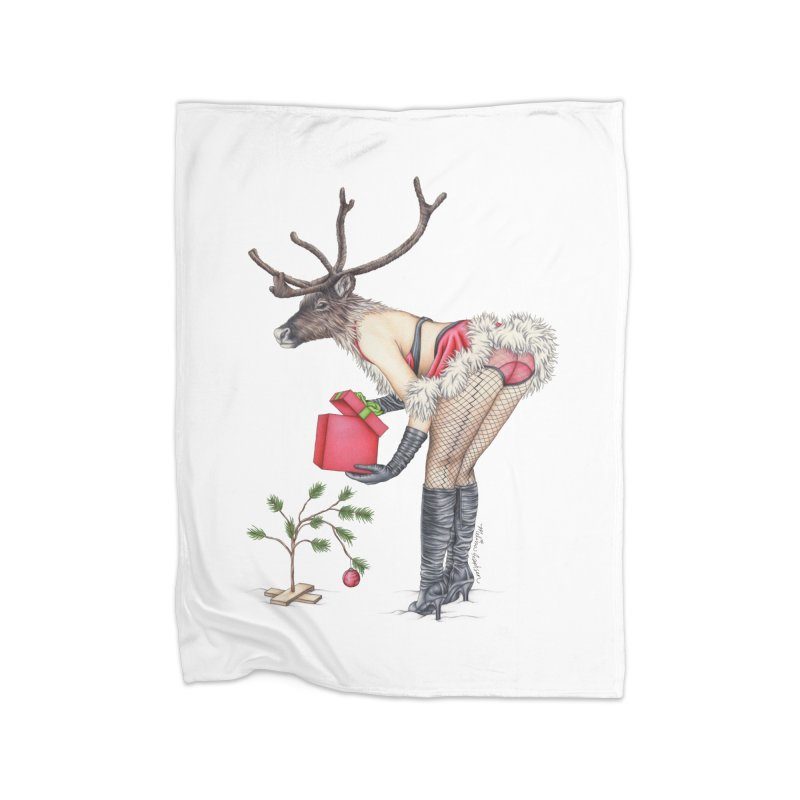 Santa's Secret Helper Home Fleece Blanket Blanket by MelJo JoJo's Artist Shop