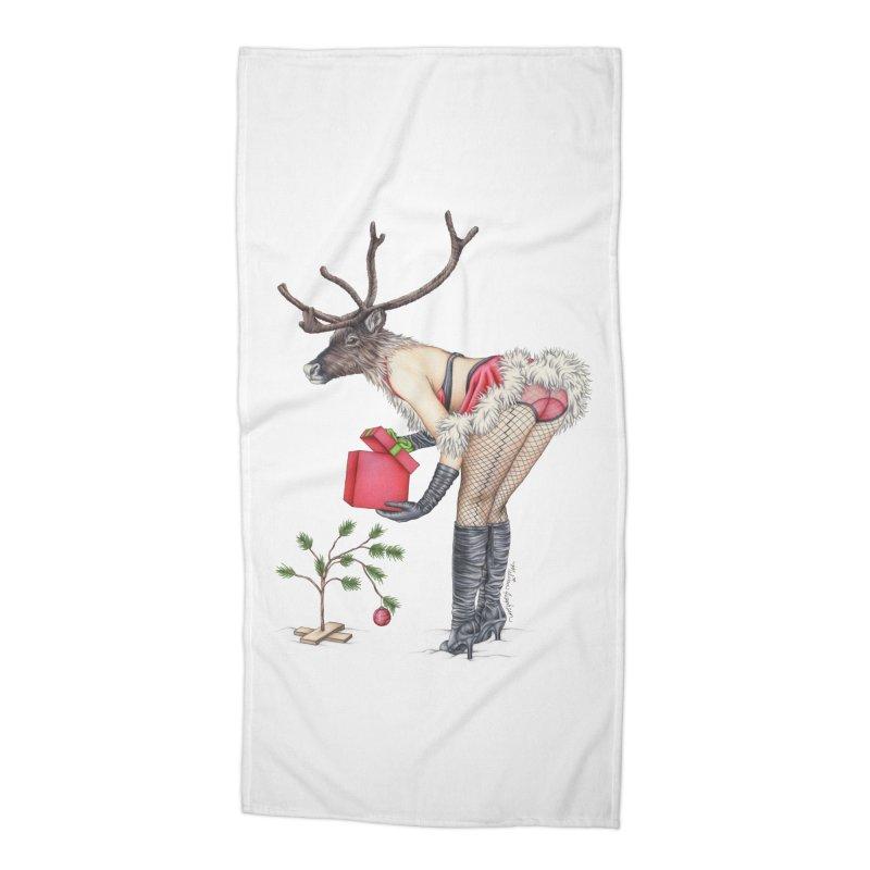 Santa's Secret Helper Accessories Beach Towel by MelJo JoJo's Artist Shop