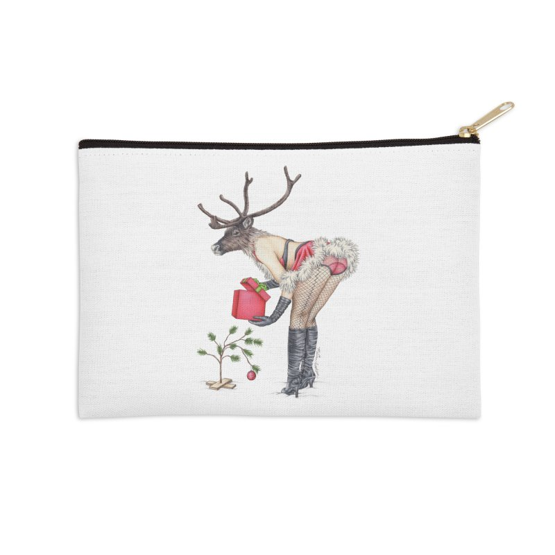Santa's Secret Helper Accessories Zip Pouch by MelJo JoJo's Artist Shop