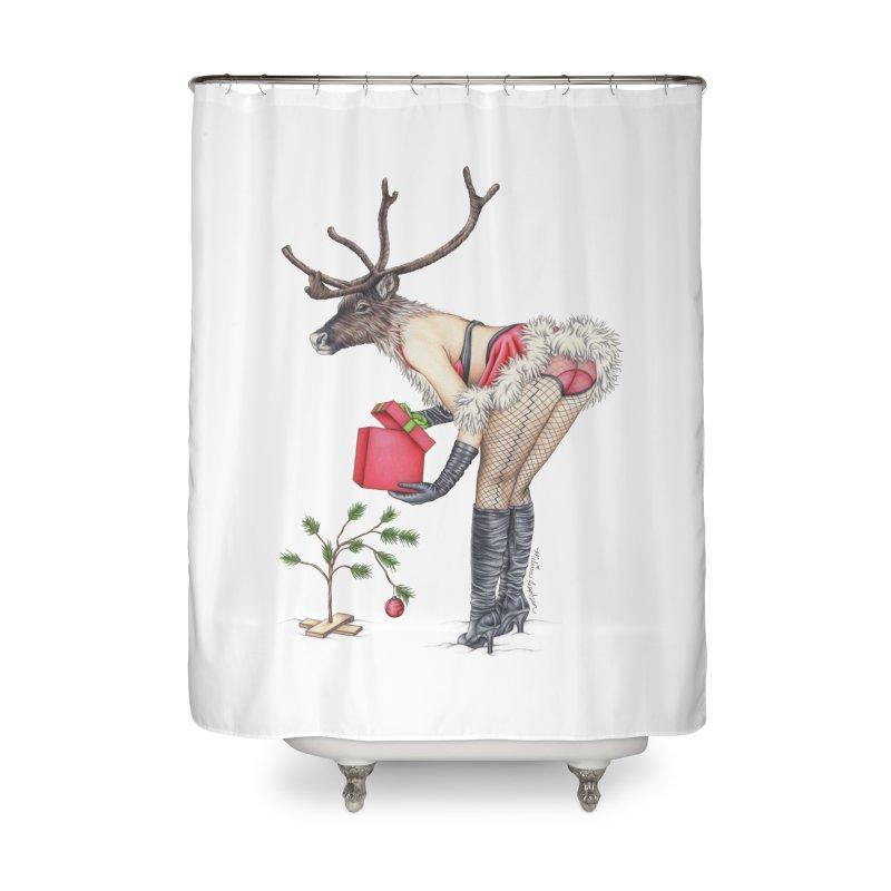 Santa's Secret Helper Home Shower Curtain by MelJo JoJo's Artist Shop