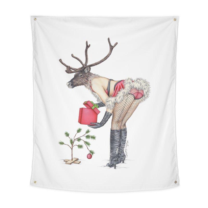 Santa's Secret Helper Home Tapestry by MelJo JoJo's Artist Shop