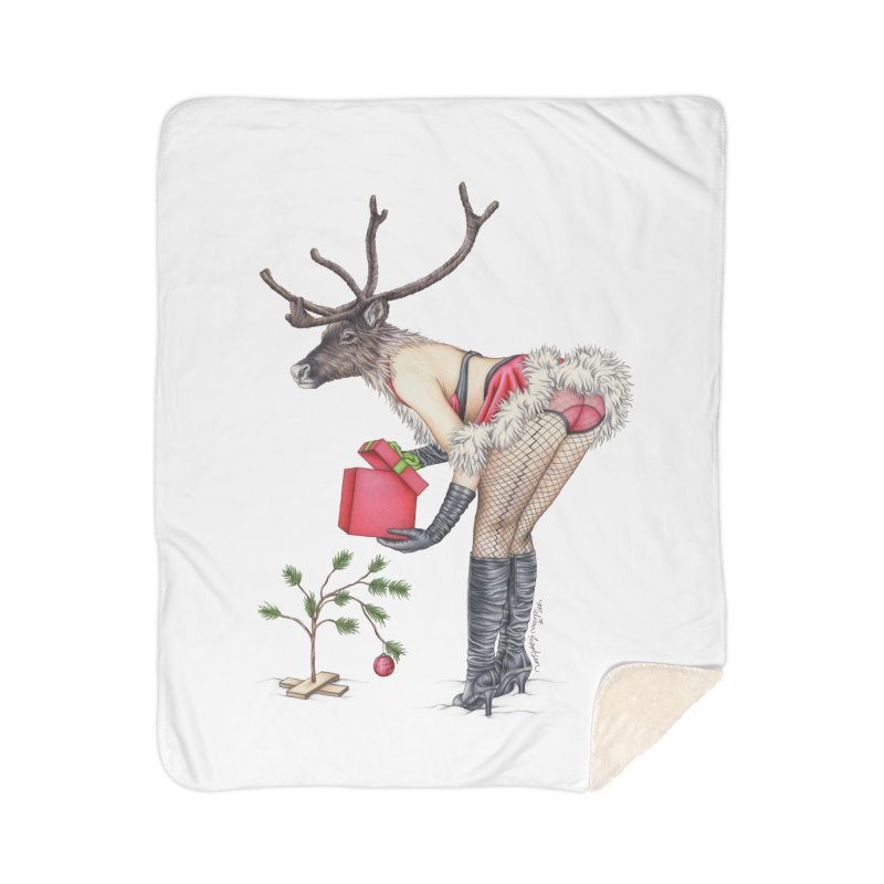 Santa's Secret Helper Home Sherpa Blanket Blanket by MelJo JoJo's Artist Shop