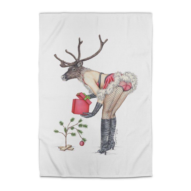 Santa's Secret Helper Home Rug by MelJo JoJo's Artist Shop