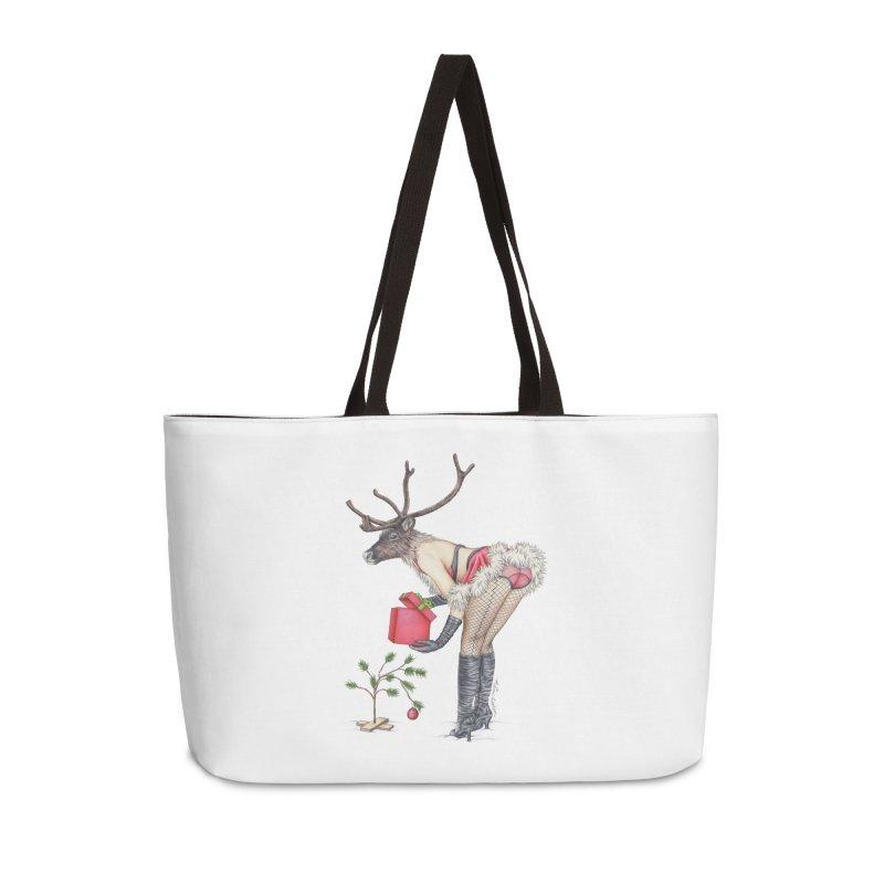 Santa's Secret Helper Accessories Weekender Bag Bag by MelJo JoJo's Artist Shop