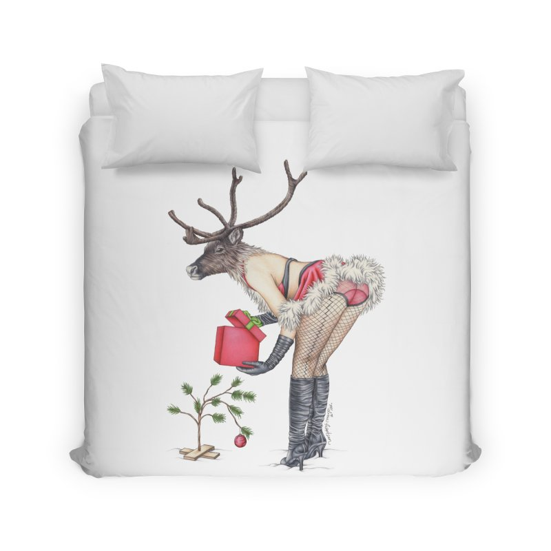 Santa's Secret Helper Home Duvet by MelJo JoJo's Artist Shop