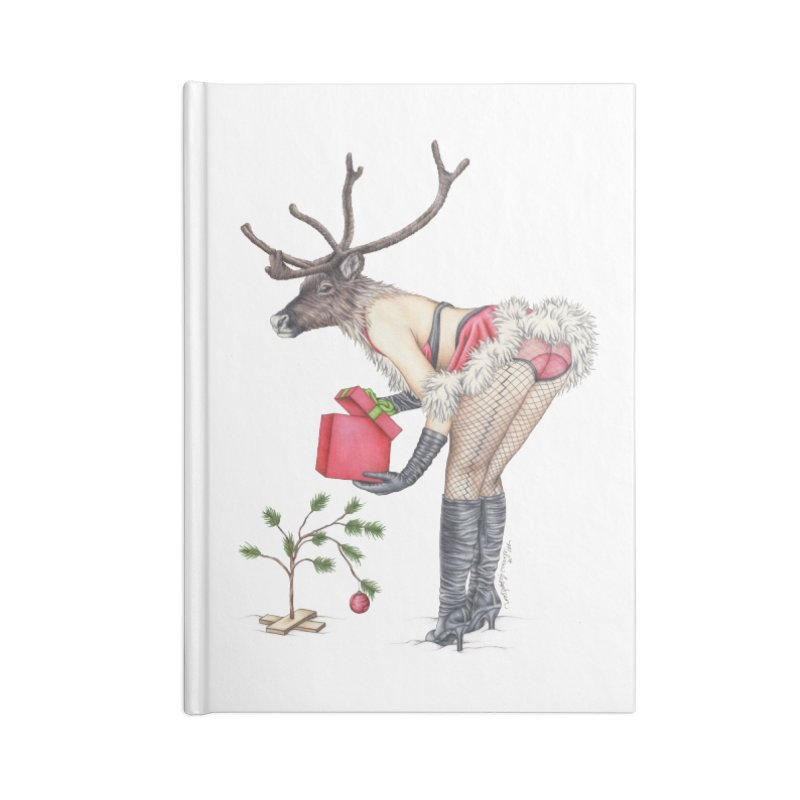 Santa's Secret Helper Accessories Blank Journal Notebook by MelJo JoJo's Artist Shop
