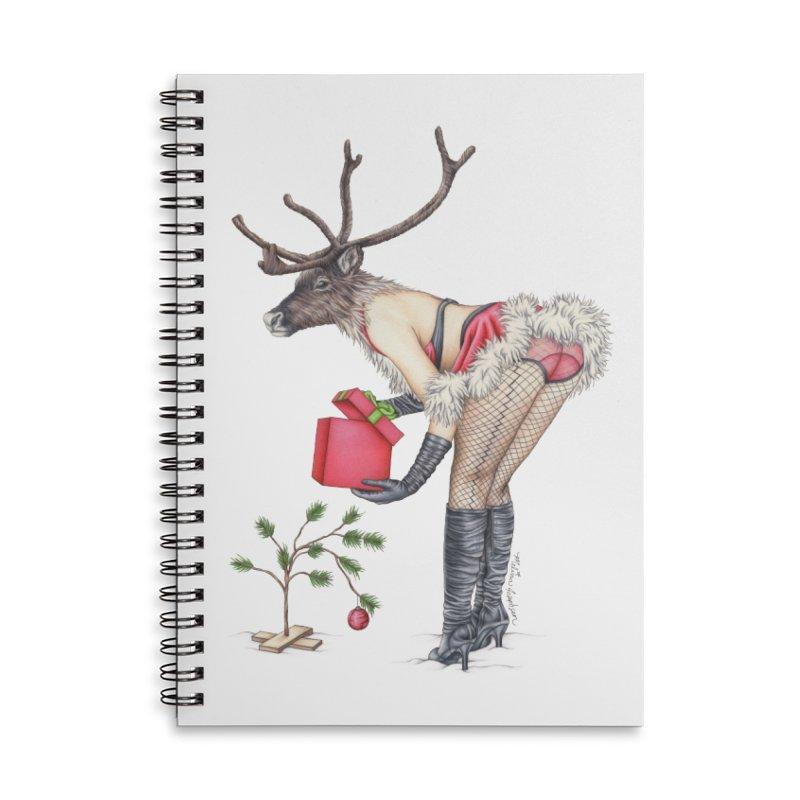 Santa's Secret Helper Accessories Lined Spiral Notebook by MelJo JoJo's Artist Shop
