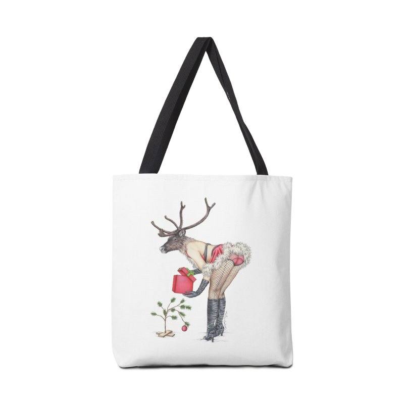 Santa's Secret Helper Accessories Tote Bag Bag by MelJo JoJo's Artist Shop